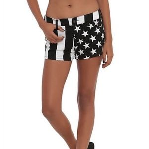 Hot Topic Royal Bones USA Flag Shorts